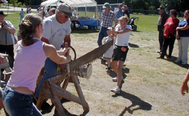 Log Sawing Competition Rosseau Fall Fair