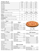Our Take-Out Menu, Posted March 14, 2021