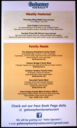 Weekly features and family meals
