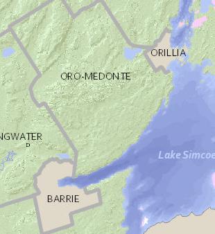 Oro Medonte Canada Map Rural Routes   Township of Oro Medonte (Lower Tier Simcoe)