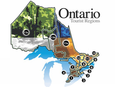 Ontario Rural Routes Map Image